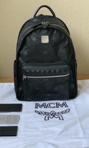 MCM Sac à dos pour ordinateur portable noir nylon
