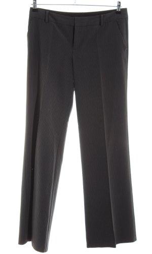 Mexx Anzughose schwarz-hellgrau Streifenmuster Business-Look