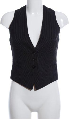 Mexx Herenvest zwart-lichtgrijs gestreept patroon zakelijke stijl