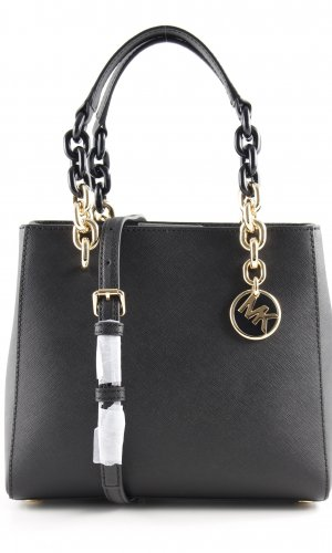 """Michael Kors Comprador """"Cynthia SM NS Convertible Satchel Bag Black"""" negro"""