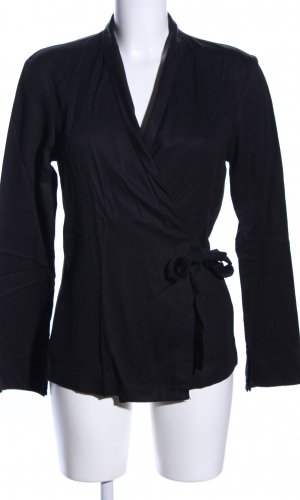 Wickel-Bluse schwarz Business-Look