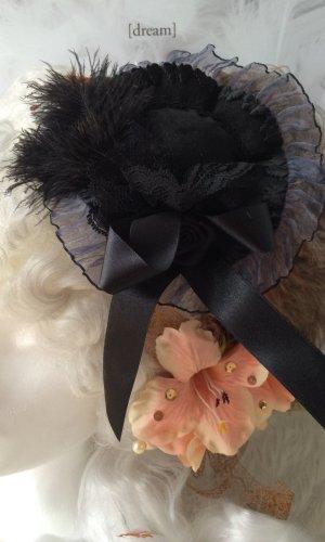 Minihat Wedding Vencia Rokokostil schwarz