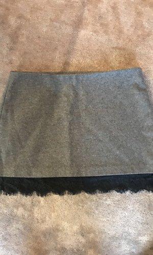 Zara Trafaluc Wollen rok zwart-grijs