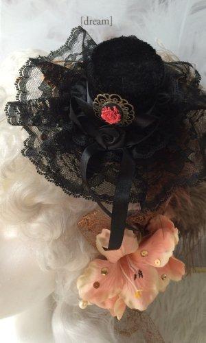 Minizylinder schwarz Wedding Gothic süß romantisch