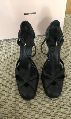 Miu Miu Escarpins Mary Jane noir