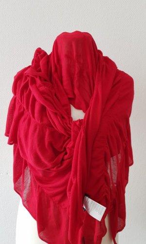 Monari Bufanda de punto rojo ladrillo