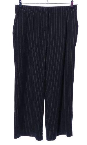 Monki Pantalón de vestir negro estampado a rayas estilo «business»