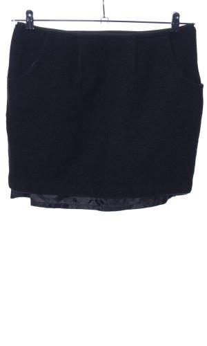 Montego Wollen rok zwart zakelijke stijl