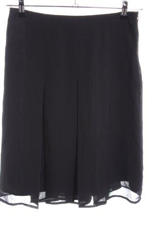 More & More Jupe à plis noir style d'affaires