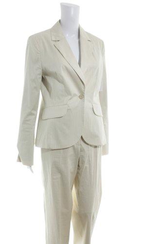 More & More Kostüm hellbeige Streifenmuster Business-Look