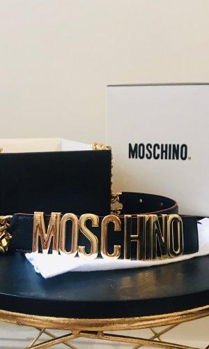 Moschino Cinturón de cadena negro-color oro