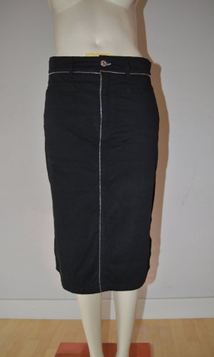 Moschino Rock Gr. 36 Midi-Länge,schwarz mit Reißverschlussdetails