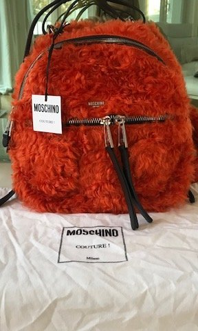 Moschino Sac à dos pour ordinateur portable orange foncé mohair