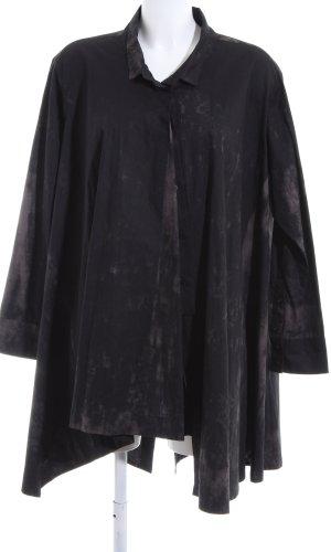 MOYURU Robe chemise brun-noir gradient de couleur style décontracté