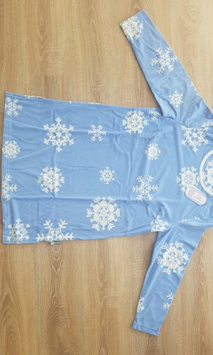 Vestido para casa blanco puro-azul celeste