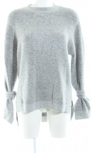 Native Youth Strickpullover hellgrau meliert Casual-Look