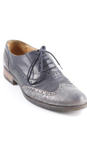 Navyboot Zapatos brogue negro-color plata look Street-Style