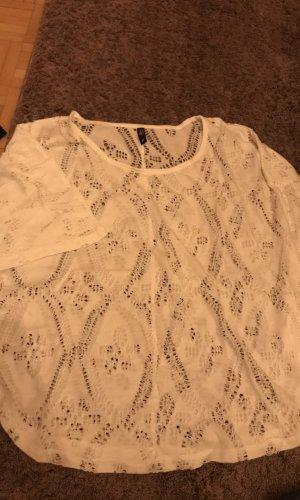 Ann Christine Gehaakt shirt wit