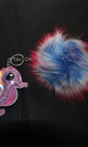 Key Chain pink-blue