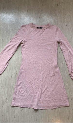 Bershka Sweaterjurk stoffig roze-rosé
