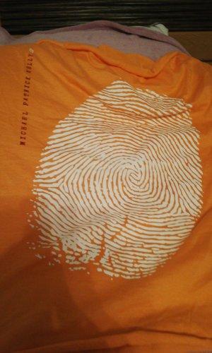 Écharpe ronde blanc-orange