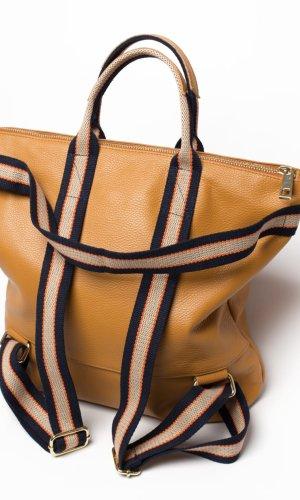 0039 Italy Sac à dos pour ordinateur portable brun sable cuir
