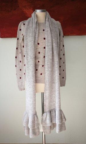 Bufanda de punto color plata