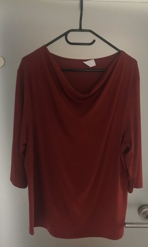Waterval shirt bordeaux-donkerrood