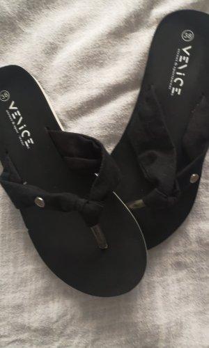291 Venice Flip-Flop Sandals white-black