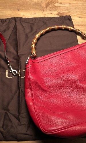 Neuwertige Gucci Handtasche Bamboo aus Leder
