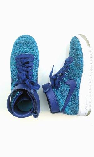 Nike Air Force Ultra Flyknit Mid Blue Lagoon Freizeitschuh blau