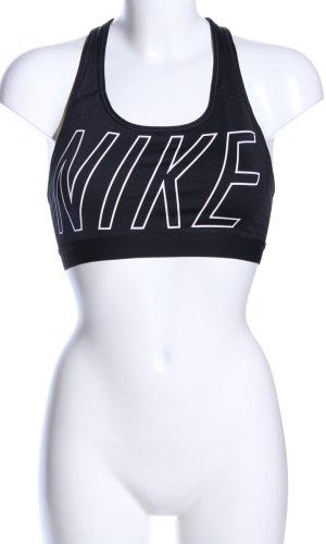 Nike BH schwarz Schriftzug gedruckt Casual-Look