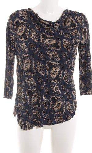 Noa Noa Waterval shirt zwart-room abstract patroon casual uitstraling
