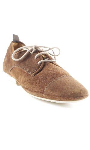 Nobrand Zapatos estilo Richelieu marrón-coñac look «Brit»