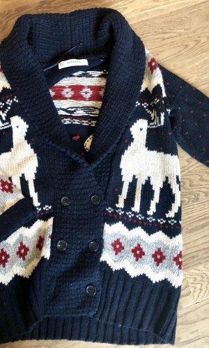 Zara Knit Cárdigan de estilo noruego multicolor