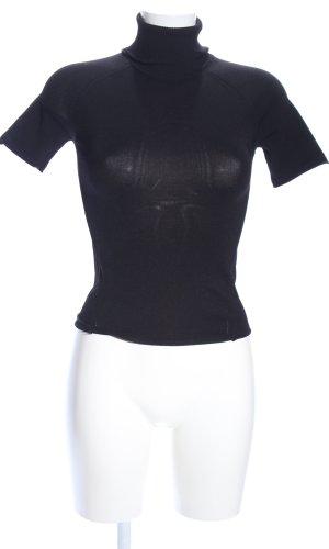 now Sweater met korte mouwen zwart casual uitstraling