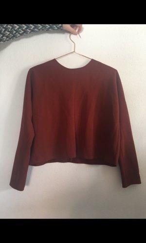 Oberteil Bluse Top von Zara in Groesse M Herbst rostbraun rot