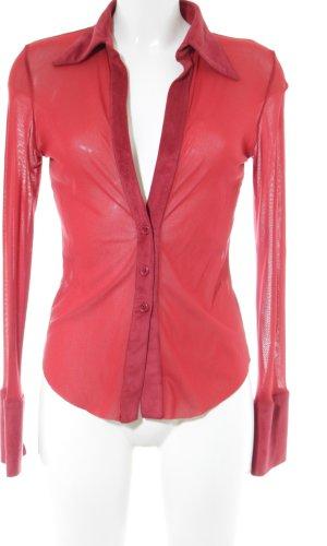 Occhi Neri Langarm-Bluse rot extravaganter Stil
