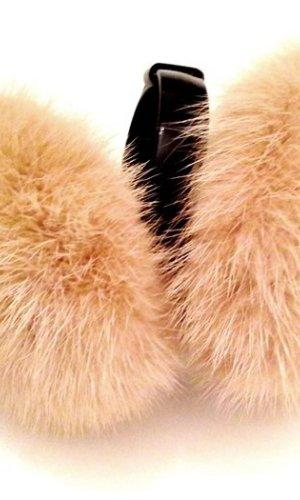 Earmuff black-cream pelt