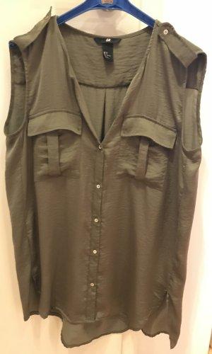 Olivgrüne lange Bluse