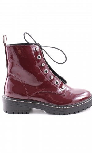 Only Schnürstiefel rot Casual-Look