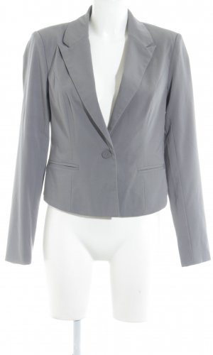 Only Sweatblazer grau Business-Look