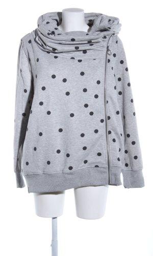 Only Veste sweat gris clair-noir moucheté style décontracté