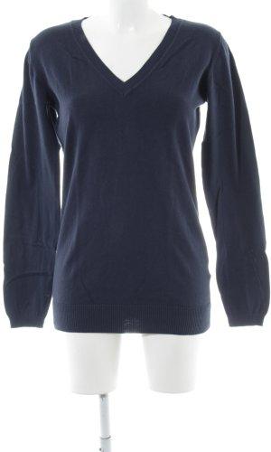 Only V-Ausschnitt-Pullover blau Casual-Look