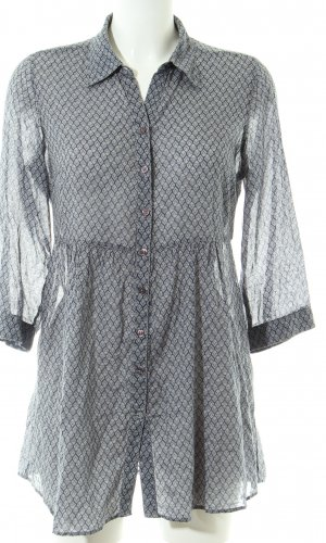 Opus Lange blouse lichtgrijs volledige print casual uitstraling