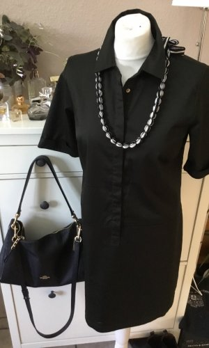 Opus Robe chemise noir coton
