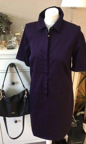 Opus Robe chemise violet foncé-bleu violet coton