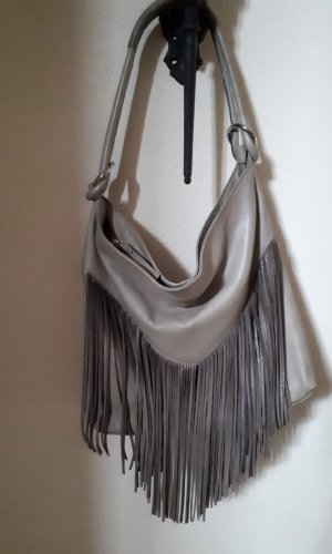 Made in Italy Fringed Bag oatmeal