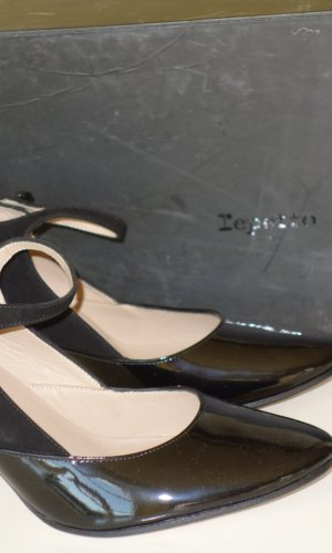 Repetto Escarpins Mary Jane noir cuir