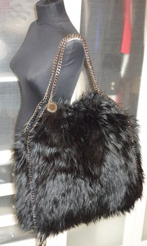 Org. STELLA McCARTNEY Falabella XL fake fur schwarz sold out